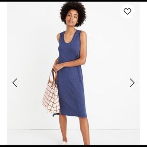 MADEWELL Blue Jersey Tank Dress